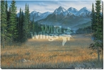 Rocky Mountain Mountains Wrapped Canvas Giclee Print Wall Art