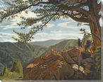 Rocky Mountain View II Wrapped Canvas Giclee Print Wall Art