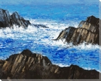 Rocky Shores II Wrapped Canvas Giclee Print Wall Art