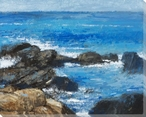 Rocky Shores IV Wrapped Canvas Giclee Print Wall Art