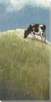 Rolling Pastures Cow Grazing I Wrapped Canvas Giclee Print