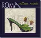 Roma Ultima Moda Shoe Wrapped Canvas Giclee Print Wall Art