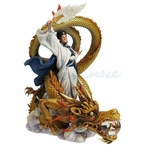 Romance of the Three Kingdoms Zhuge Liang Riding Dragon Sculpture