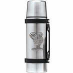Rooster Bird Stainless Steel Thermos with Pewter Accent