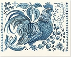Rooster Bird Stands Wrapped Canvas Giclee Print Wall Art
