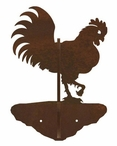 Rooster Double Metal Wall Hook