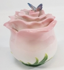 Rose Flower with Butterfly Porcelain Jar