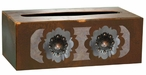 Round Copper Concho Metal Flat Tissue Box Cover