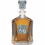 Route 66 Capitol Glass Decanter with Pewter Accents