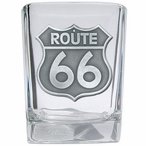 Route 66 Pewter Accent Shot Glasses, Set of 4