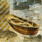Rowboat Four Wrapped Canvas Giclee Print Wall Art
