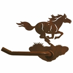 Running Wild Horse Metal Toilet Paper Holder