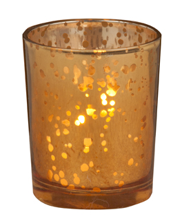 Rustic Amber Gl Votive Candle Holders Set Of 12