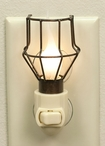 Rustic Brown Cage Trouble Light Metal Night Lights, Set of 6