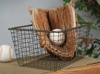 Rustic Brown Wire Storage Basket
