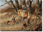 Rustic Retreat Deer Wrapped Canvas Giclee Print Wall Art