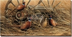 Rustic Retreat Pheasants Wrapped Canvas Giclee Print Wall Art