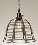 Rustic Wire Pendant Lamp Light