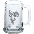 Saddle Glass Beer Mug with Pewter Accent