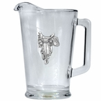 Saddle Glass Pitcher with Pewter Accent