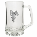 Saddle Glass Super Beer Mug with Pewter Accent