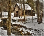 Safe Keeping Cabin in the Woods Wrapped Canvas Giclee Print