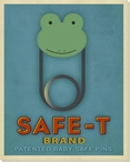 Safe-T Frog Wrapped Canvas Giclee Print Wall Art