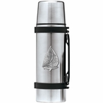 Sailboat Stainless Steel Thermos with Pewter Accent