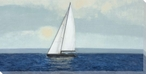 Sailing Alone Sailboat Wrapped Canvas Giclee Print Wall Art