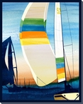 Sailing Skies Four Wrapped Canvas Giclee Print Wall Art