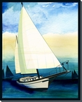 Sailing Skies One Wrapped Canvas Giclee Print Wall Art