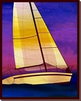 Sailing Skies Three Wrapped Canvas Giclee Print Wall Art