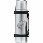 Salmon Fish Stainless Steel Thermos with Pewter Accent