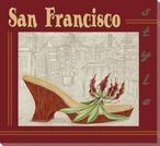 San Francisco Style Shoe Wrapped Canvas Giclee Print Wall Art