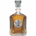 Sand Dollar Capitol Glass Decanter with Pewter Accents
