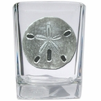 Sand Dollar Pewter Accent Shot Glasses, Set of 4