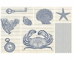 Sand Treasures Collage with Crab Vintage Style Metal Sign