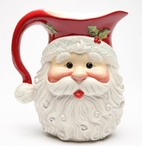 Santa Porcelain Pitcher by Laurie Furnell
