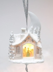 Santa's Workshop Light Cover Christmas Tree Ornaments, Set of 4