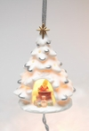 Santa's Workshop Tree Light Cover Christmas Tree Ornaments, Set of 4