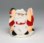 Santa with Friends Tea Light Candle Holder, Set of 4