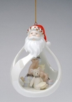 Santa with Toys Christmas Tree Ornaments, Set of 4