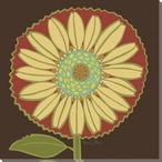 Sassy Sunflower Wrapped Canvas Giclee Print Wall Art