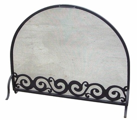 metal fireplace screens. Scroll Flat Metal Fireplace Screen with Arched Top  Rustic Fire