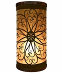Scroll Metal Cylinder Pillar Table Lamp