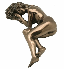 Sculpted Nude Female Laying Down Sculpture