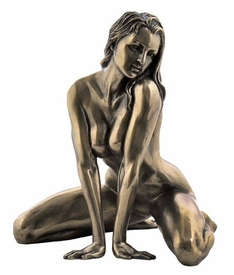 Sculpted Nude Female Posing Sculpture - 293