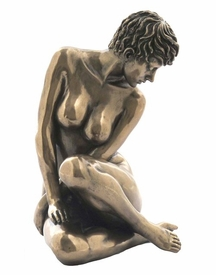 Sculpted Nude Female Sitting and Leaning Sculpture - 278