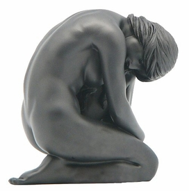 Sculpted Nude Female Sitting with Knees Bent Sculpture