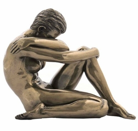 Sculpted Nude Female with Arm Around Shoulder Sculpture - 277